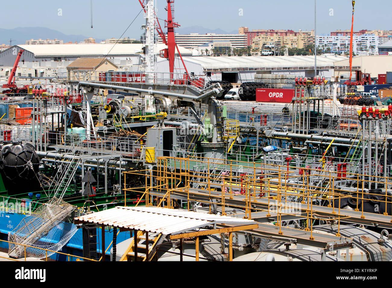 Kassos Monrovia IMO 9382164 Oil tanker berthed in Gibraltar - Stock Image