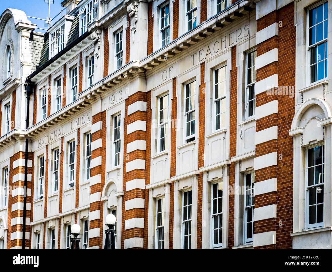 NUT National Union of Teachers Head Office / HQ in London - Hamilton House - Stock Image