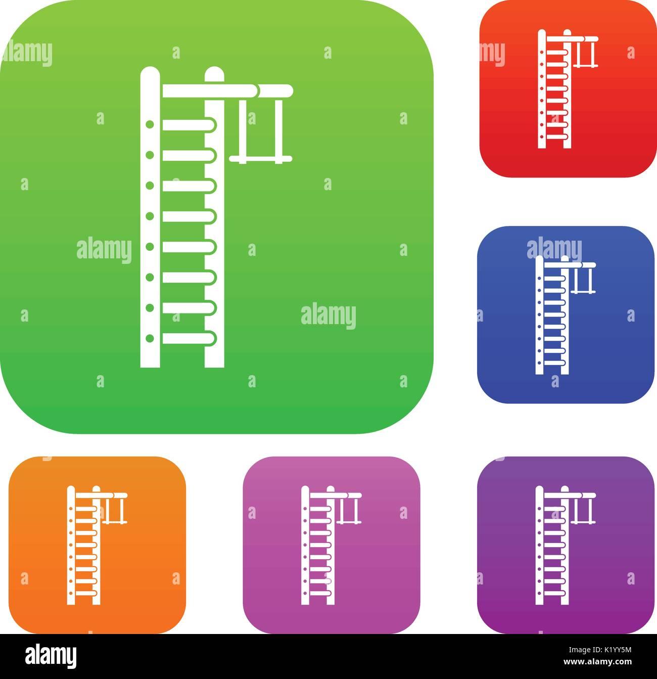 Swedish ladder set collection - Stock Image