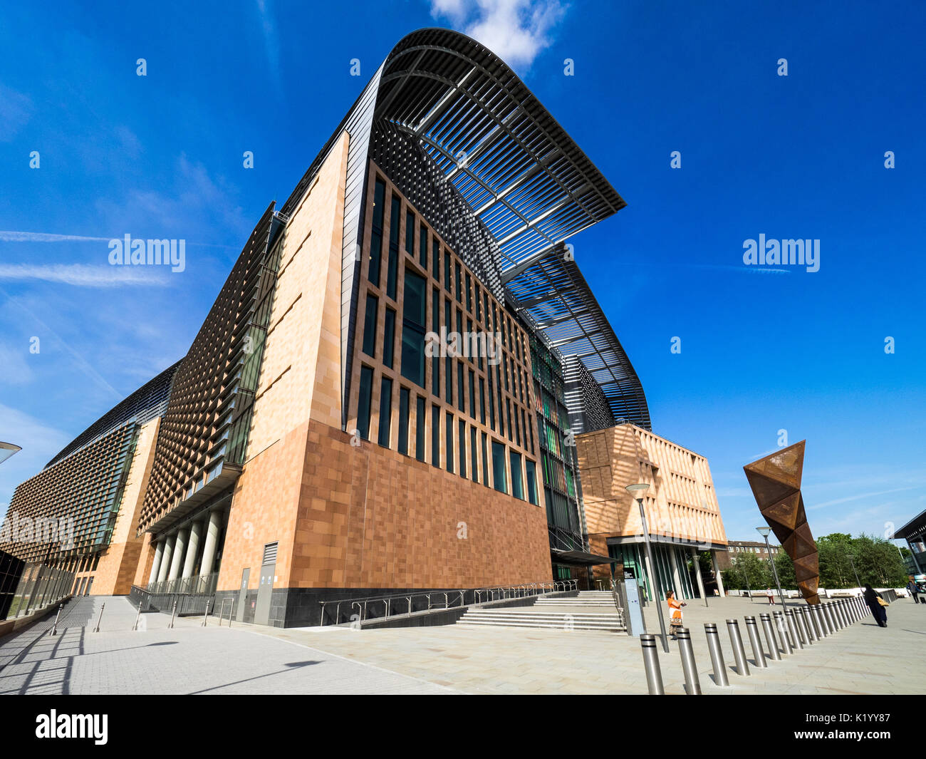 Francis Crick Institute London  - a new biomedical research institute opened in August 2016 - Stock Image