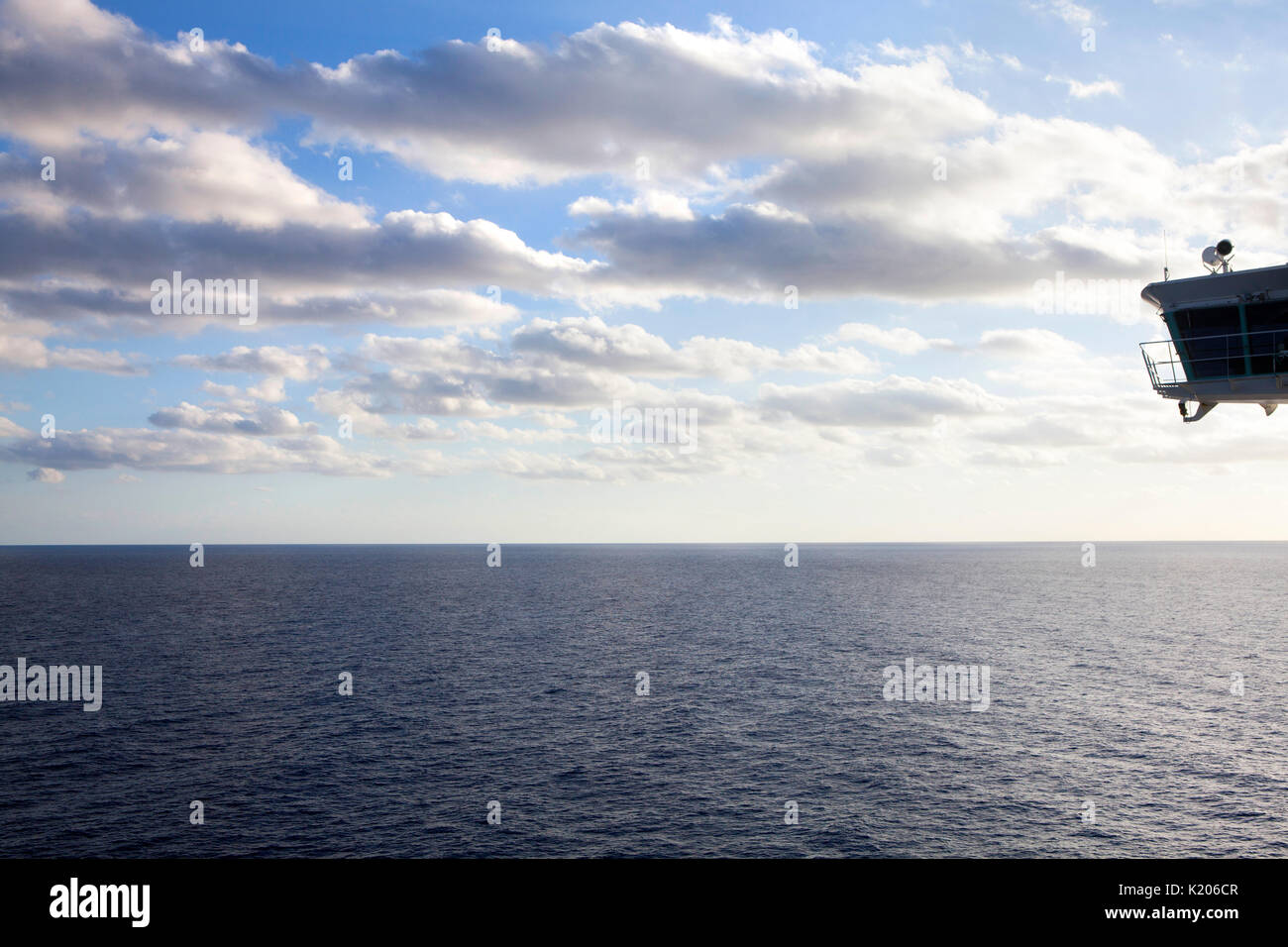 Cruising at late afternoon in summer in the Mediterranean Sea on the Royal Caribbean Navigator of the Seas - Stock Image