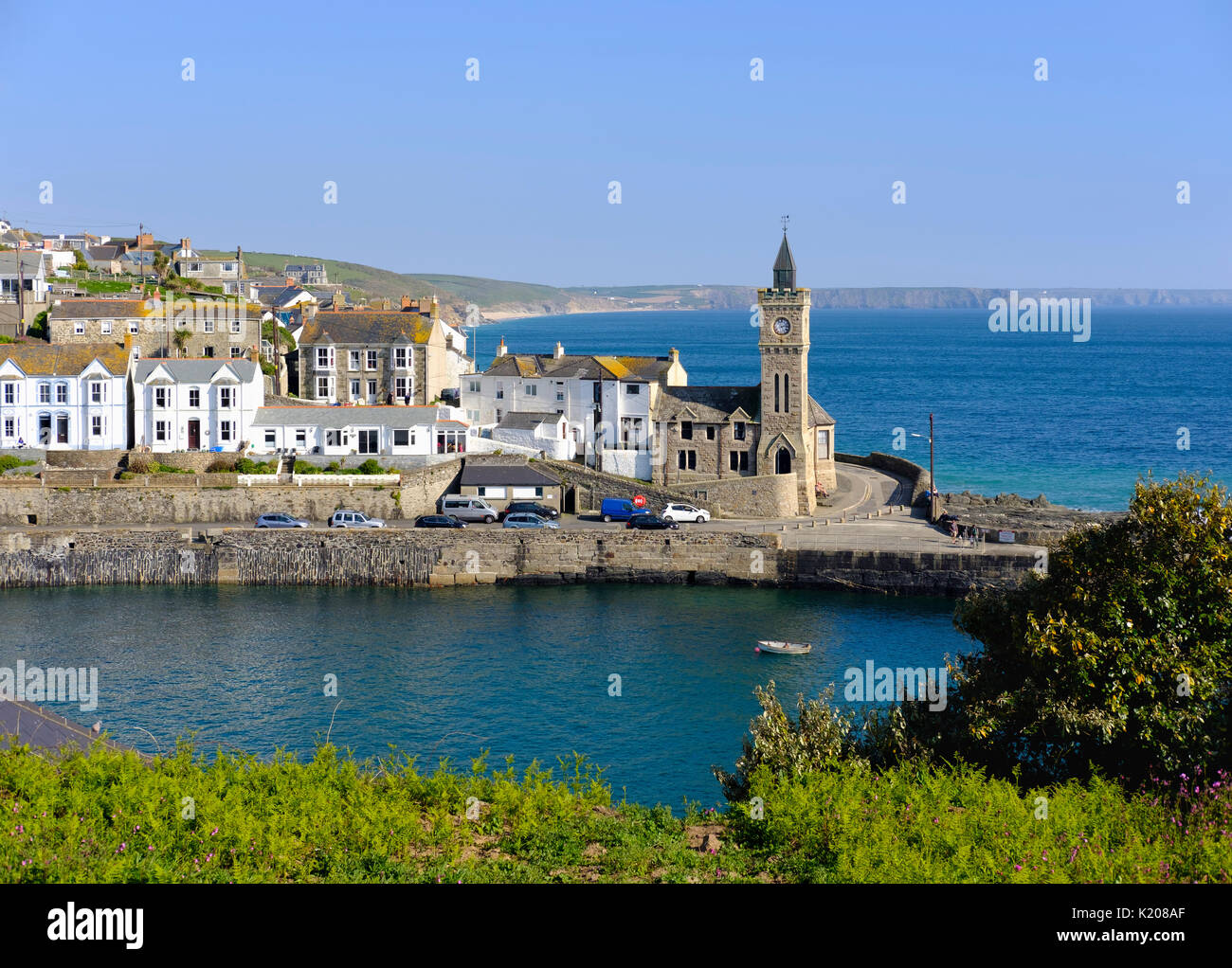 Porthleven Town Council, Porthleven, Cornwall, England, United Kingdom - Stock Image