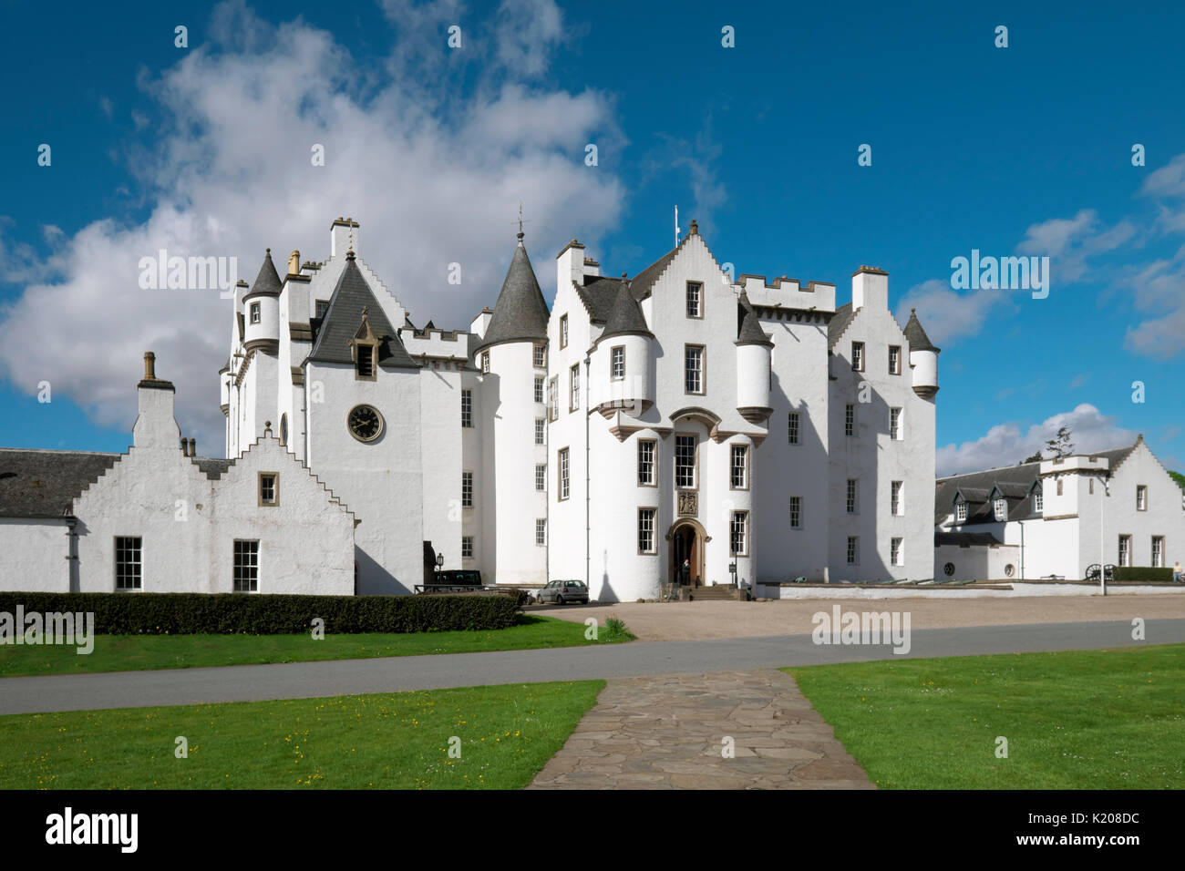 Blair Castle, Blair Atholl, Perth and Kinross, Scotland, United Kingdom - Stock Image