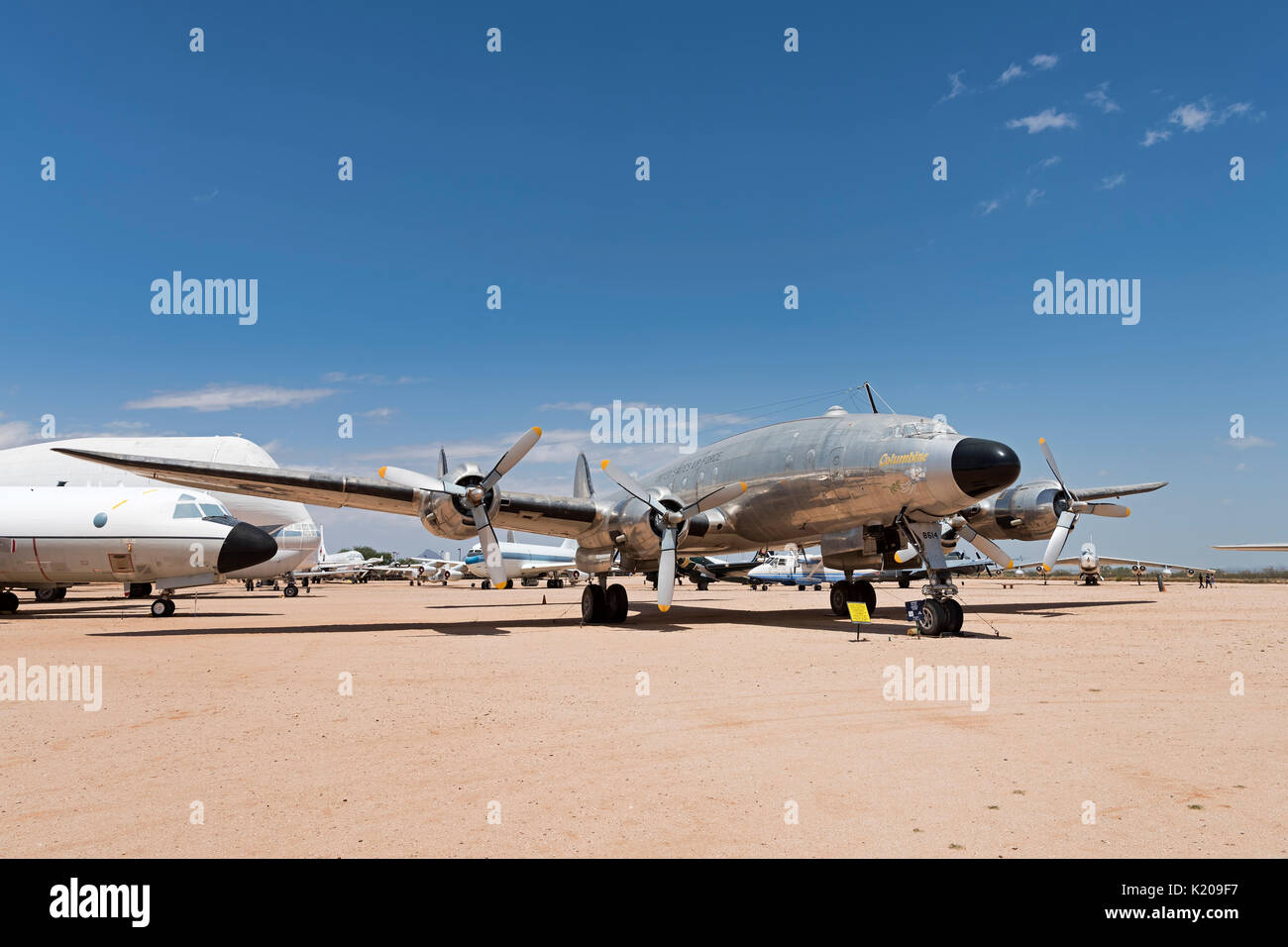 Detail with propellers, Lockheed Constellation C-1214 Columbine 1, Gen. Eisenhower's personal plane, 1950-1952 - Stock Image