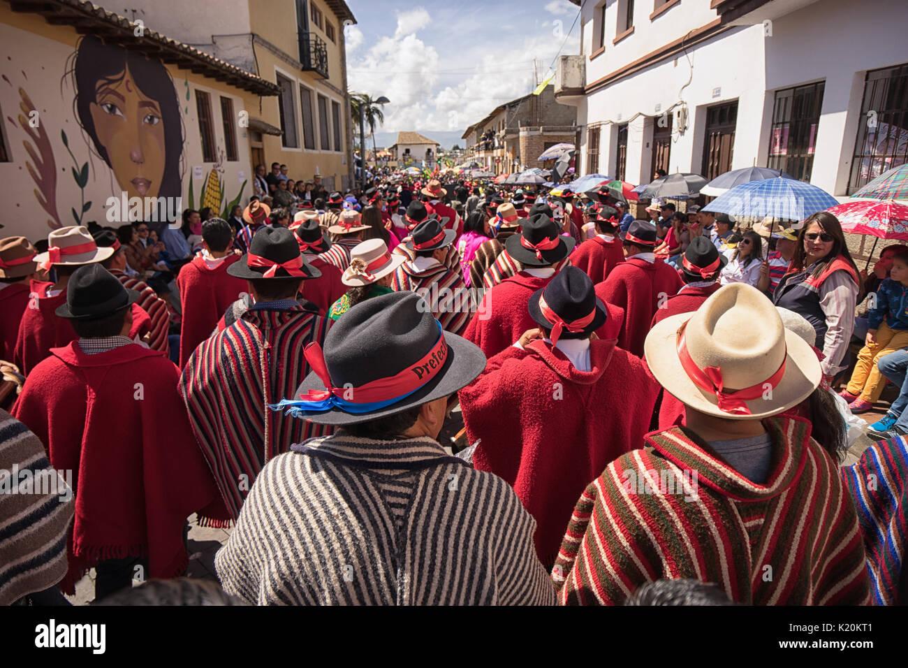 June 17, 2017 Pujili, Ecuador: the annual Corpus Christi parade is consideted a national heritage treasure - Stock Image