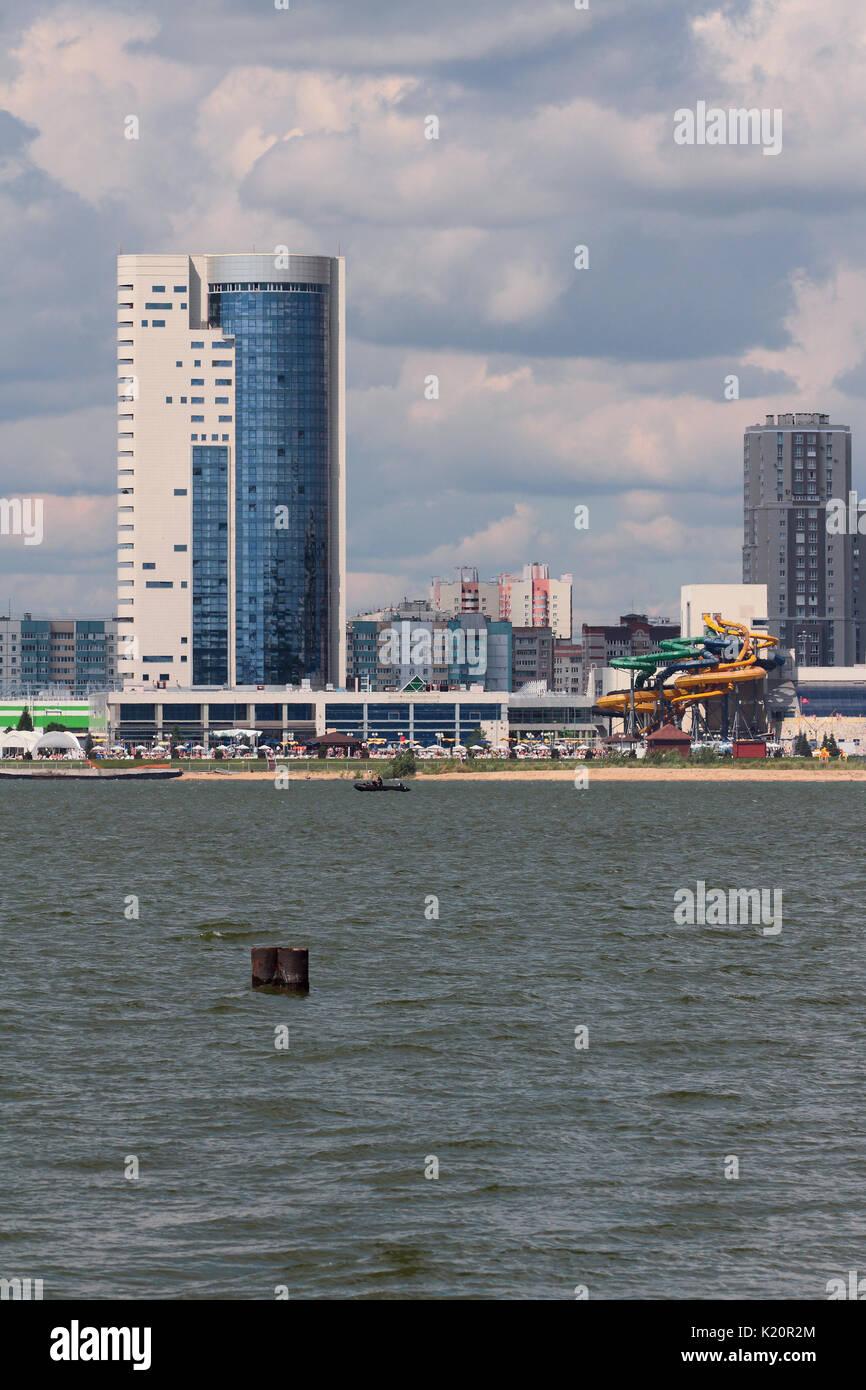 River and modern city. Kazan, Russia - Stock Image