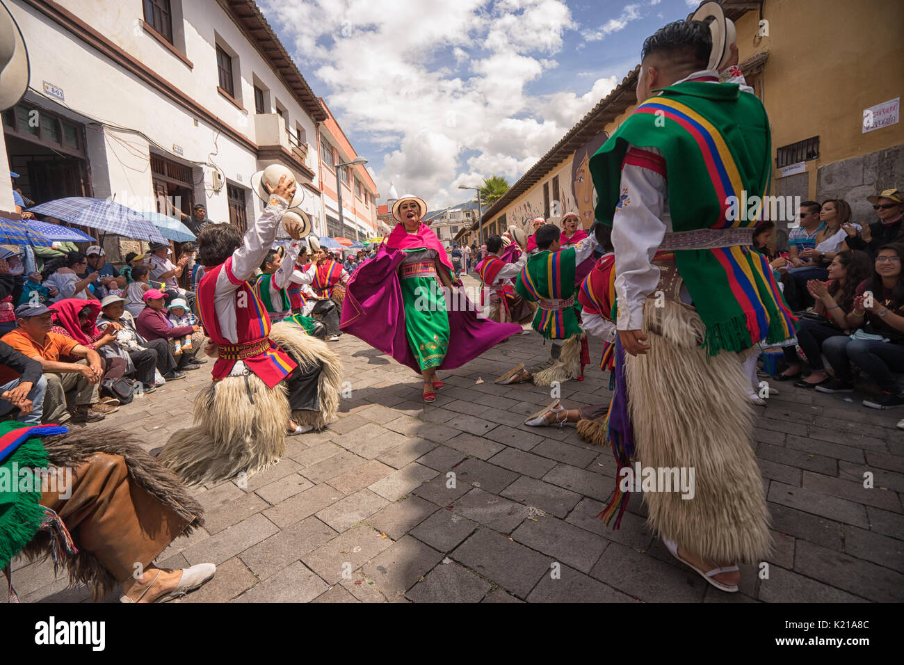 June 17, 2017 Pujili, Ecuador: the Corpus Christi parade is considered a national treasure of the country - Stock Image