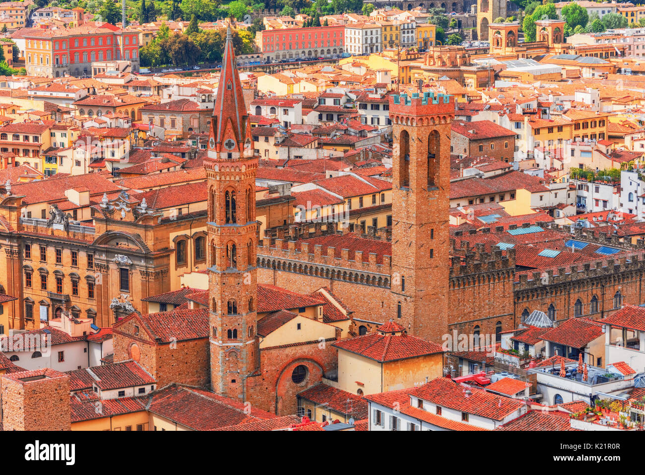 Badia Fiorentina is an abbey and church now home to the Monastic Communities of Jerusalem situated on the Via del Stock Photo