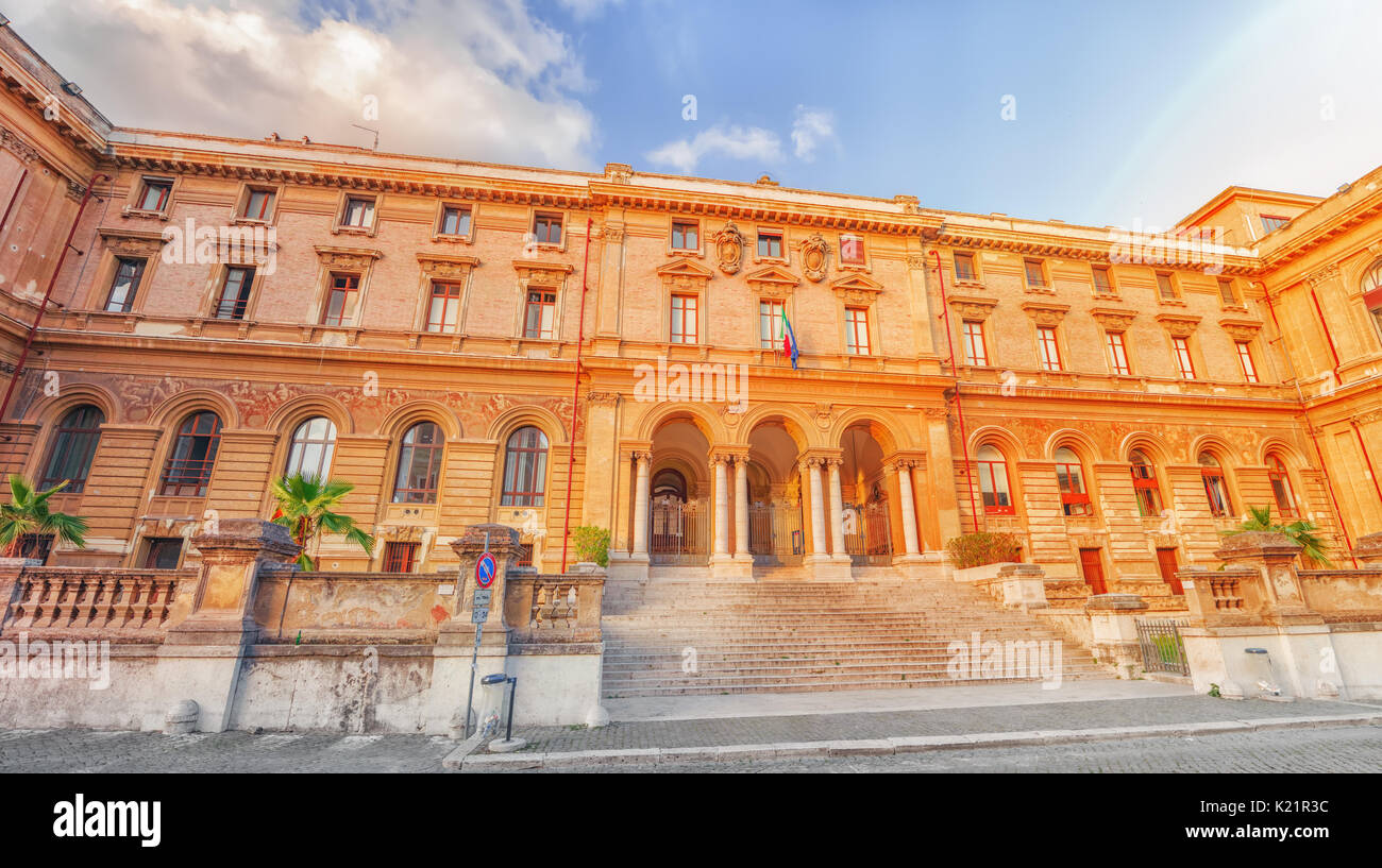 University of Rome La Sapienza - Department of Mechanical and Aerospace Engineering. Rome, Italy. - Stock Photo