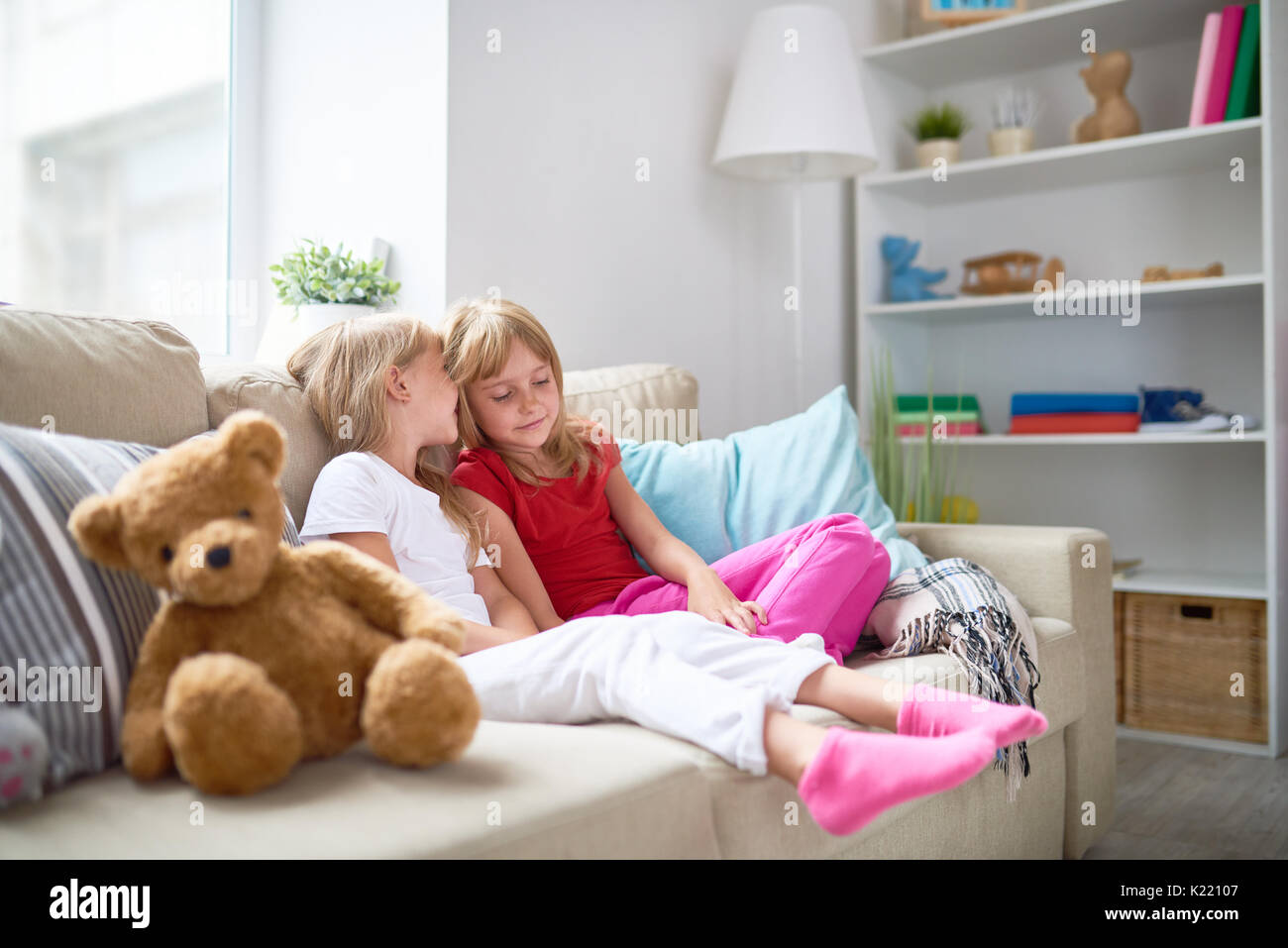 Secrets of Little Girls - Stock Image