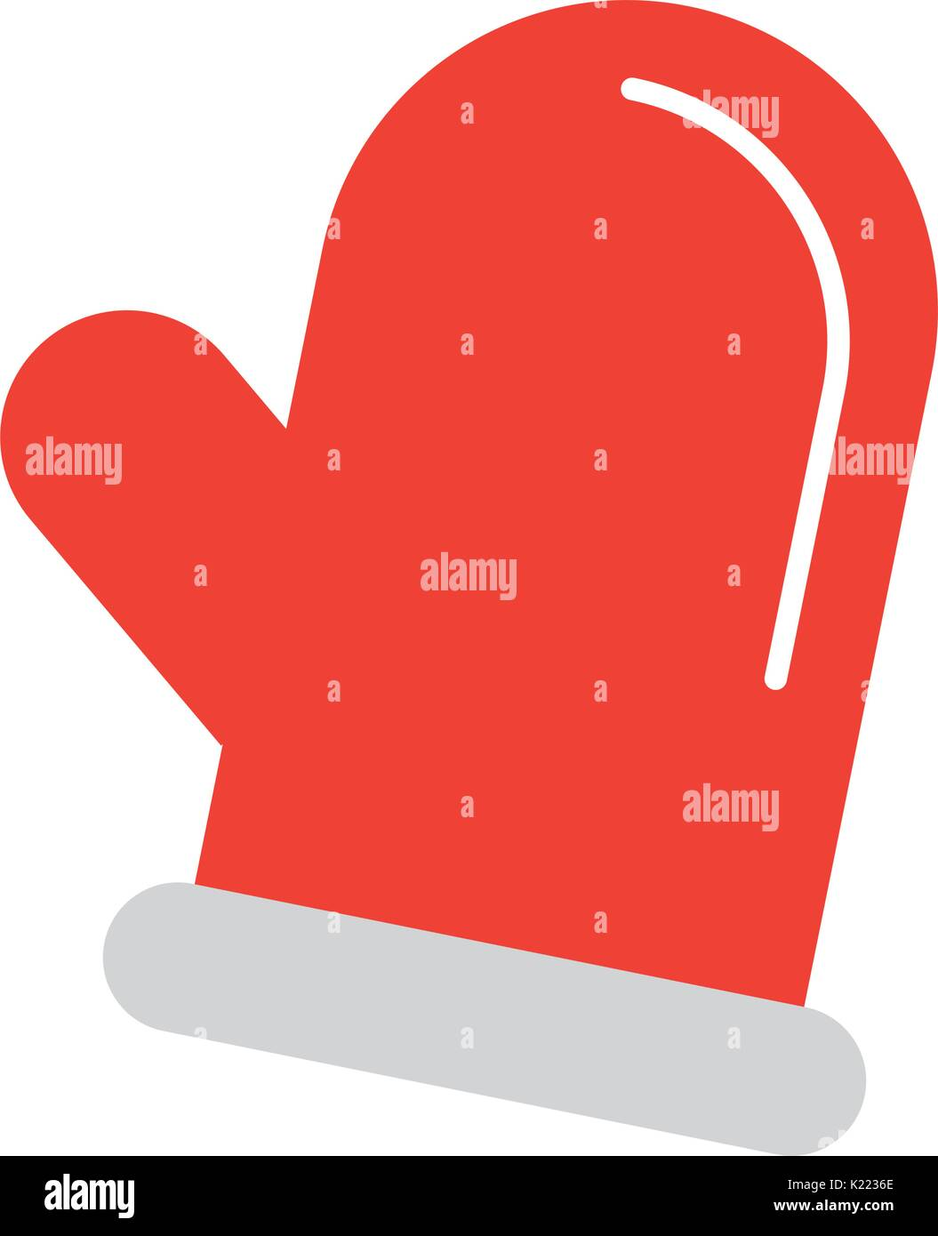 christmas glove isolated icon - Stock Vector