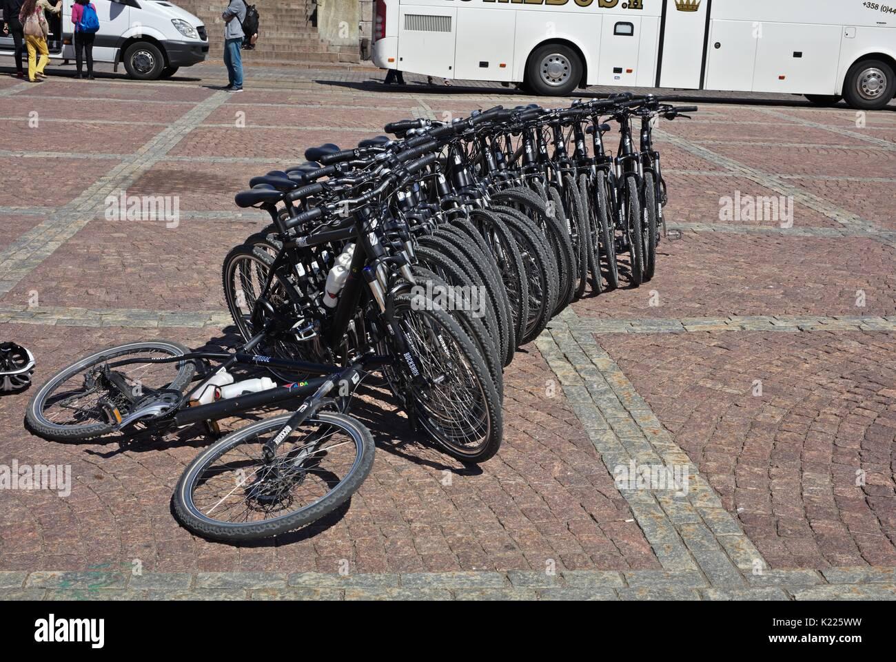 Aida cruise ship bicycles - Stock Image