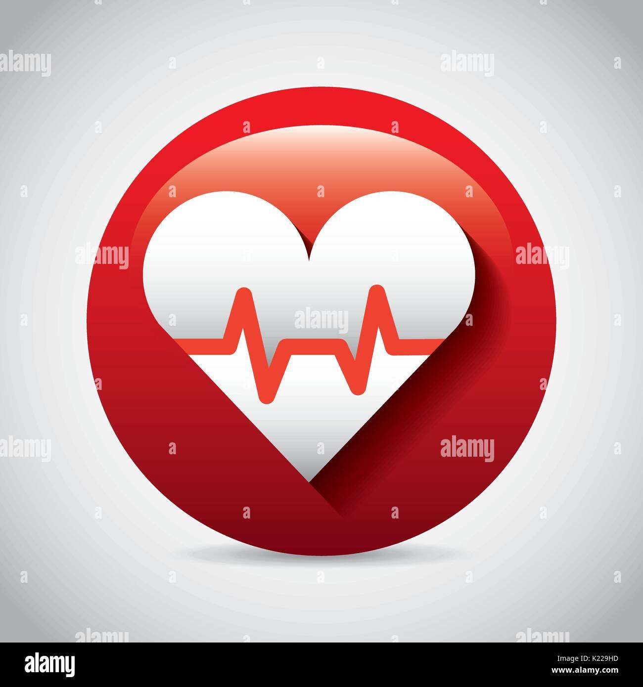 cardio measure design  - Stock Image