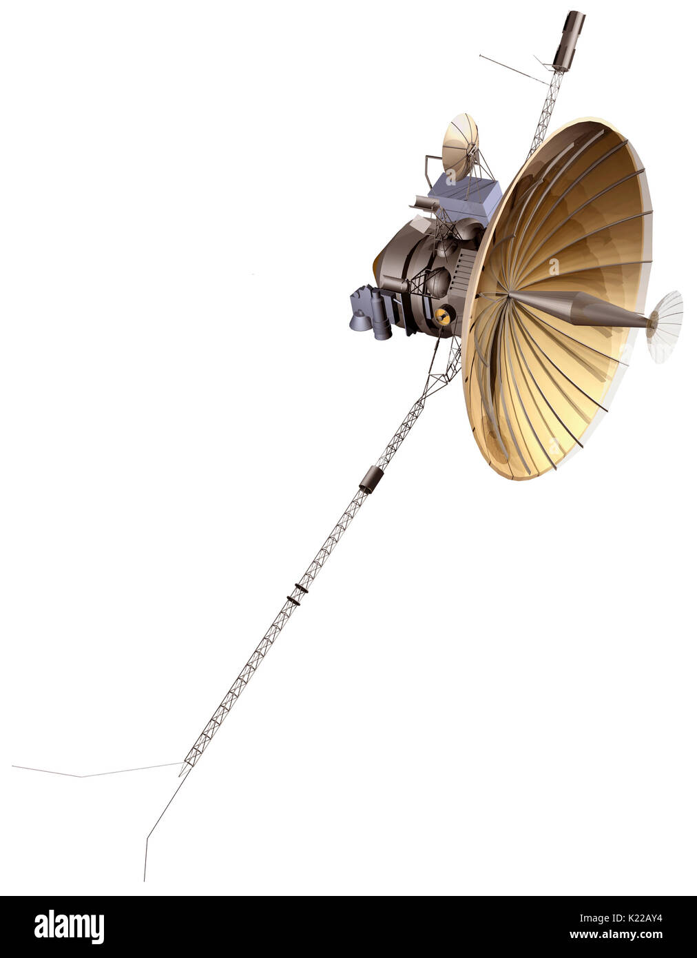 The first probe to thrust into orbit around Jupiter (1995), Galileo also explored the planet's four largest satellites. - Stock Image