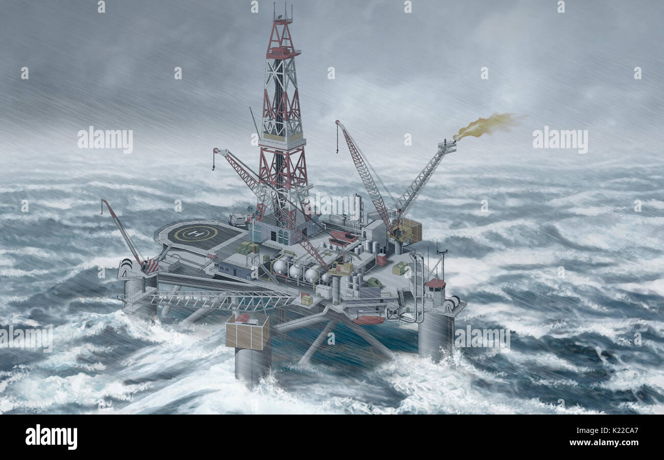 Facility Used To Extract Underwater Oil Deposits The Separation And Stock Photo Alamy