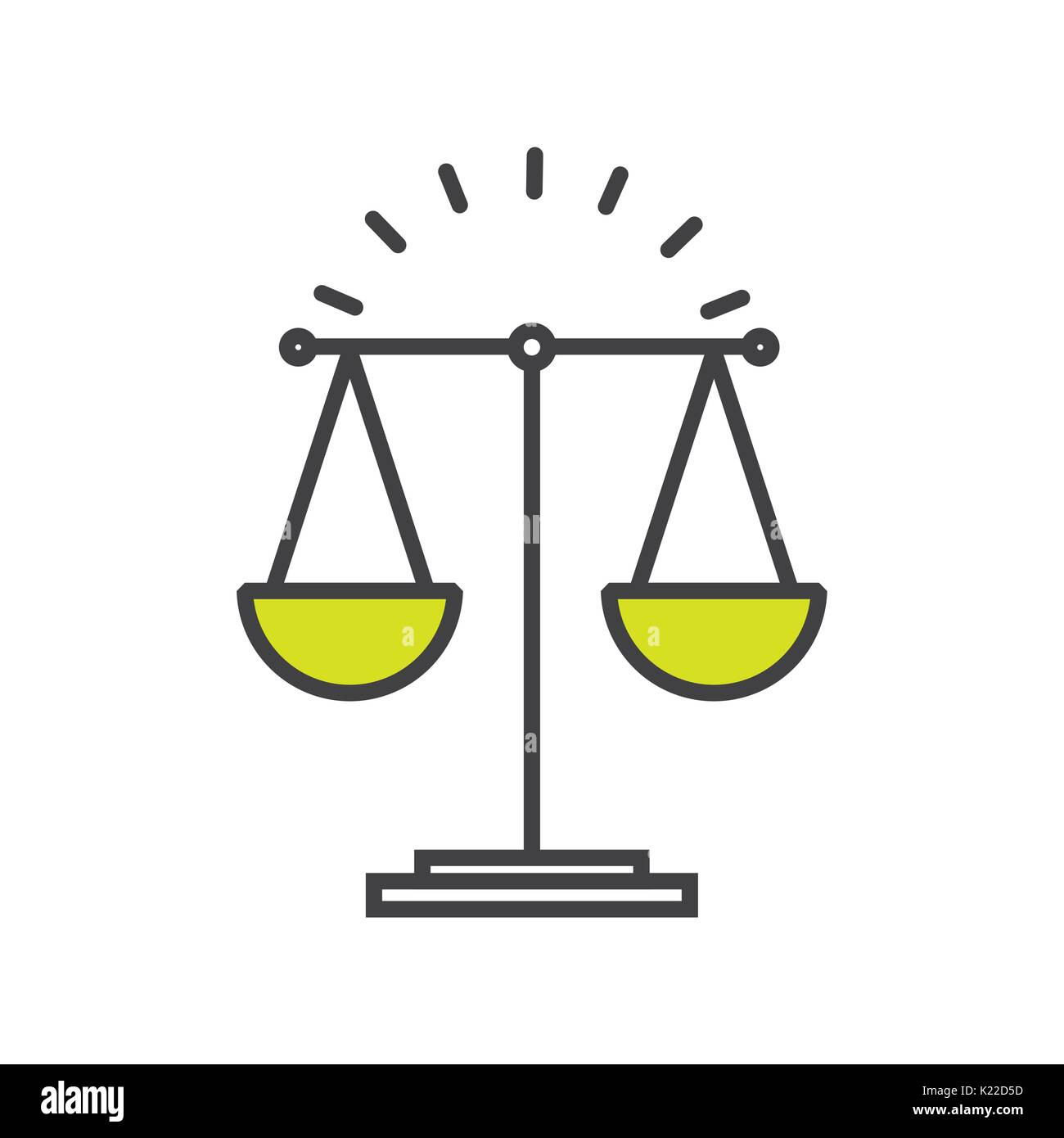 justice concept  design  - Stock Vector
