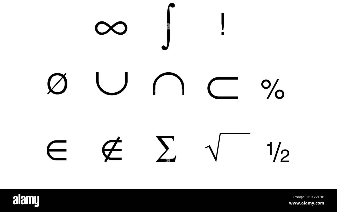 Those are some symbols used in mathematics. Stock Photo
