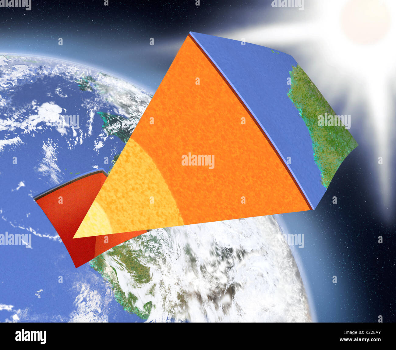Layers of earth stock photos layers of earth stock images alamy the earth is formed of three concentric layers the core the mantle and the ccuart