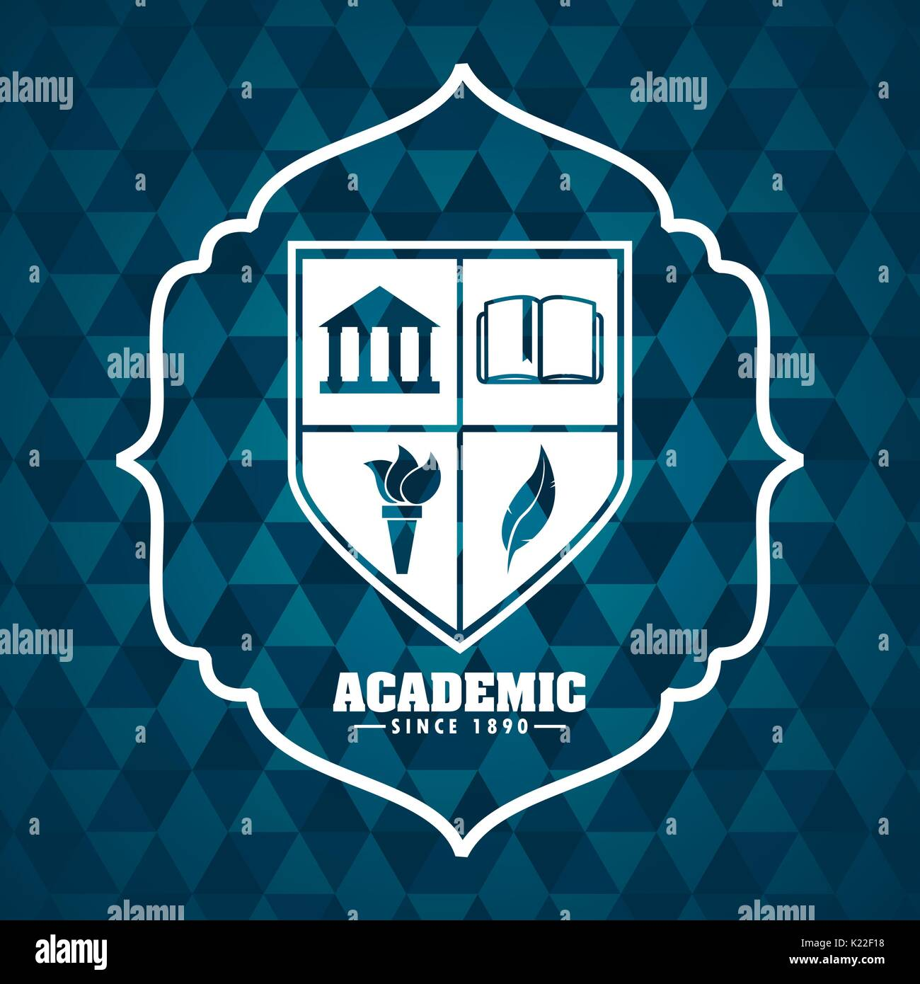 academic award design  Stock Vector