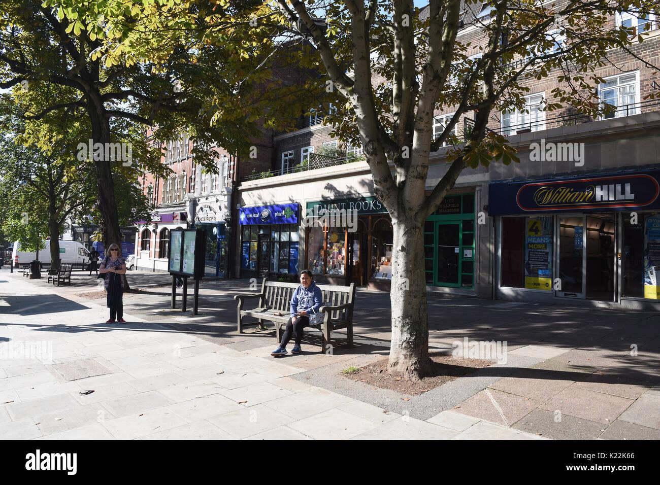 Shops on Haverstock Hill,Belsize Park,London.UK - Stock Image