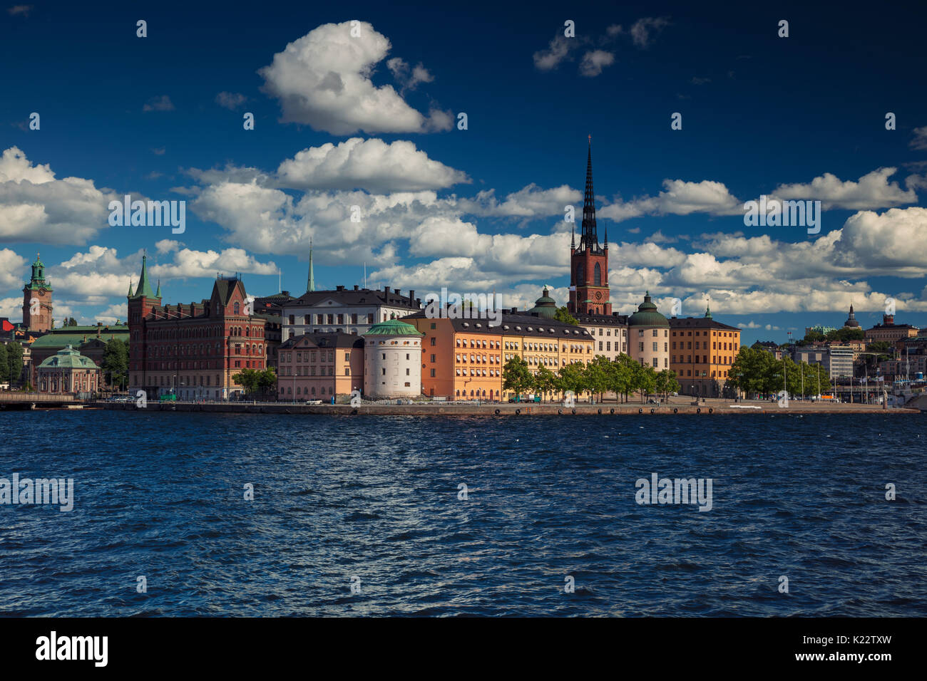 Stockholm. Cityscape image of old town Stockholm, Sweden during during sunny day. - Stock Image