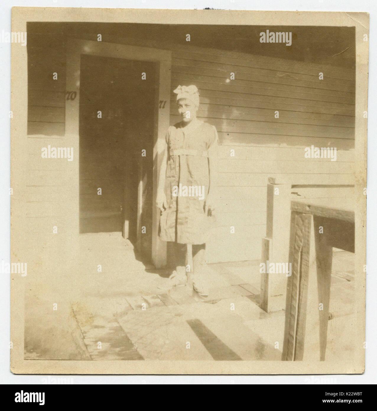 Woman in Bathing Costume, Houston Heights Natatorium - Stock Image