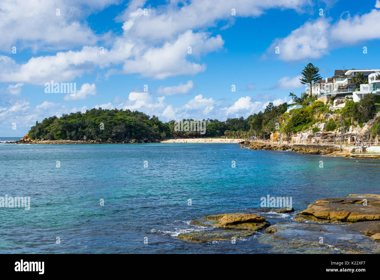 Manly seafront leading to Shelly beach, Northern beaches, Sydney, New South Wales, Australia. - Stock Image