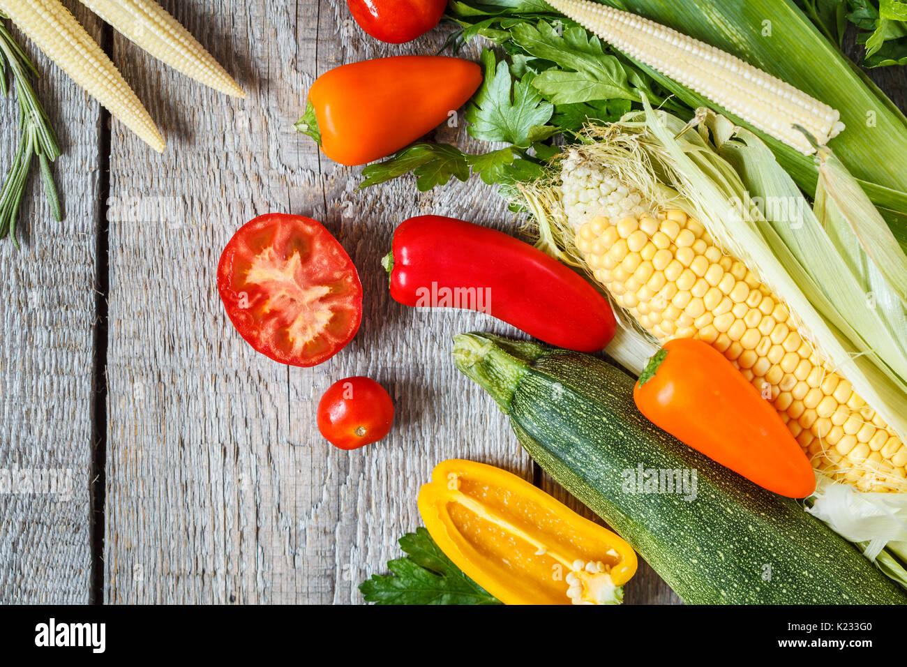 Vegan background. Ingredients for a vegetarian diet. - Stock Image