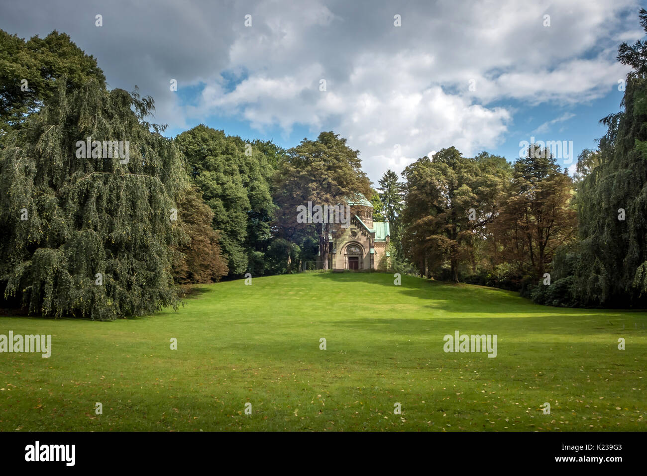 Ohlsdorf Cemetery in Hamburg, Germany Stock Photo