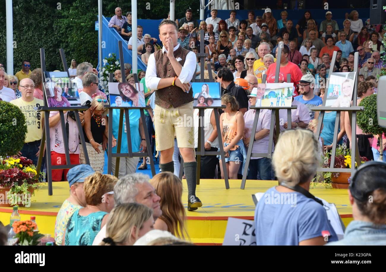 Rust, Germany, 27th August, 2017, Das Erste ARD TV Show 'Immer wieder Sonntags' Credit: mediensegel/Alamy Live News - Stock Image