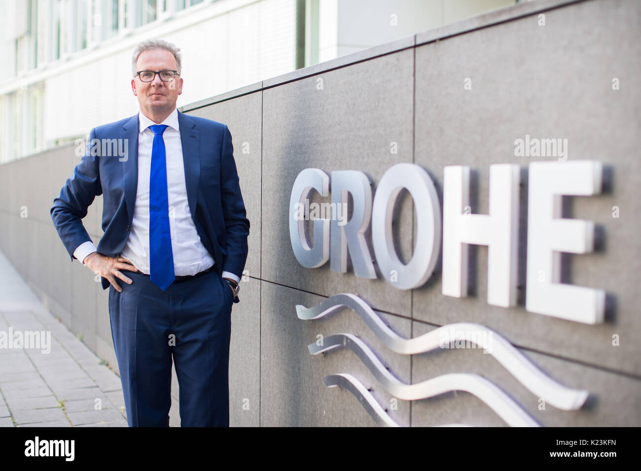Grohe Ag duesseldorf, germany. 10th aug, 2017. the ceo of the grohe ag stock