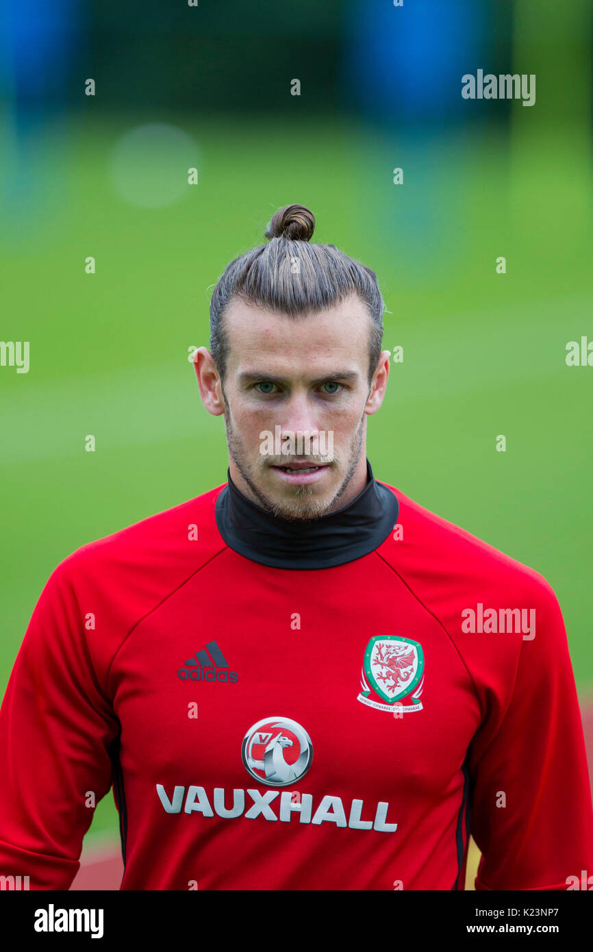 wholesale dealer 57915 2bc9c Hensol, Wales, UK, 29th August 2017. Gareth Bale during ...