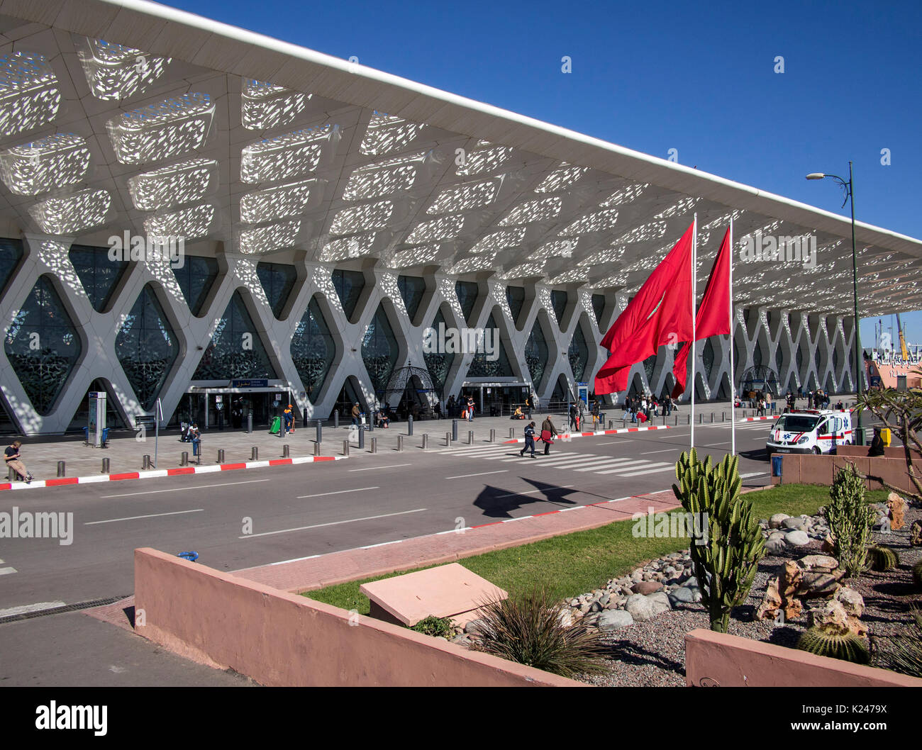 MARRAKESH, MOROCCO:  Airport Terminal 1 Building - Stock Image