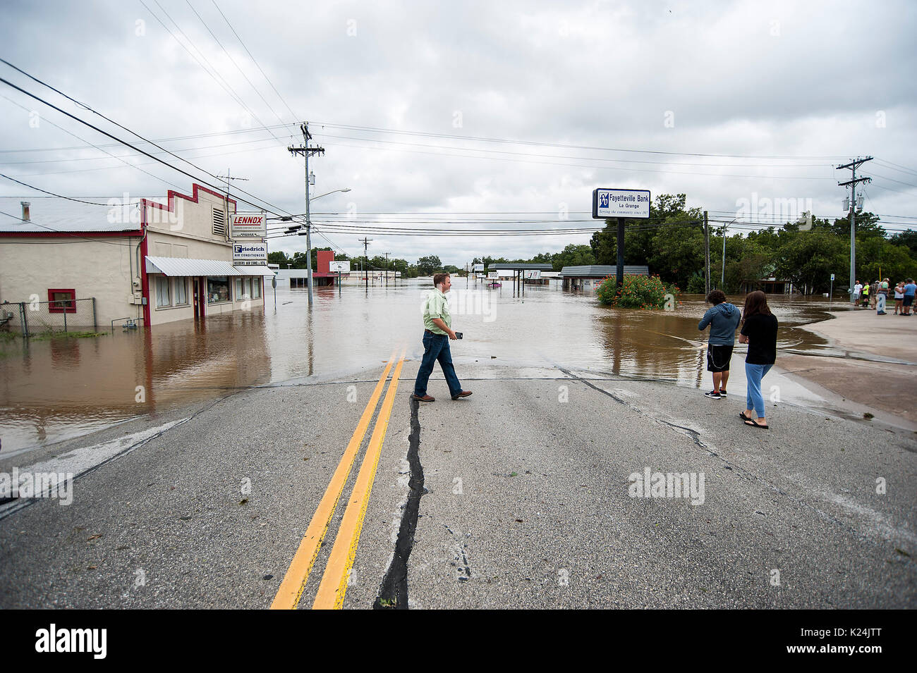 Corpus Christi, Texas, USA. 28th Aug, 2017. Hurricane Harvey made landfall late Friday just north of Corpus Christi Stock Photo