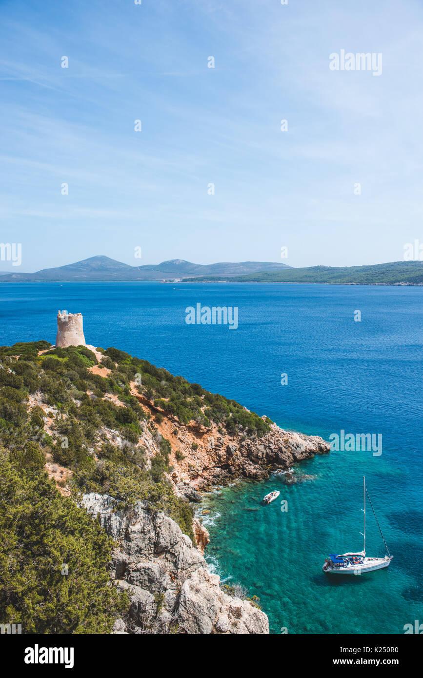Sardinia, Italy. 20th Aug, 2017. The Sardinian sea and coast during summer period Photo: Alessandro Bosio/Pacific Stock Photo