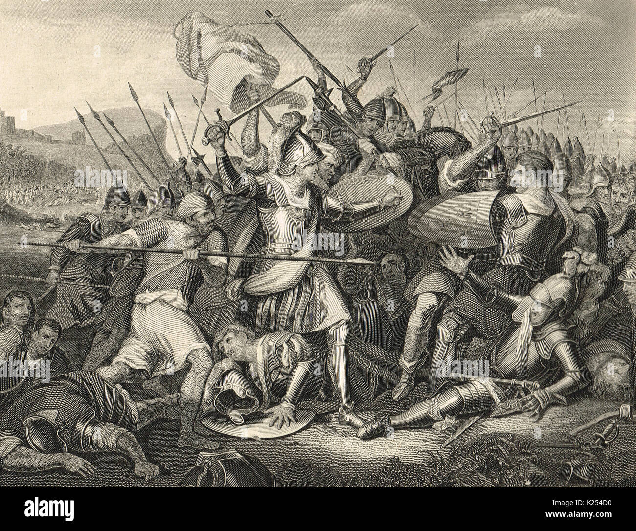 Battle of Agincourt, Saint Crispin's Day, 25 October 1415 - Stock Image