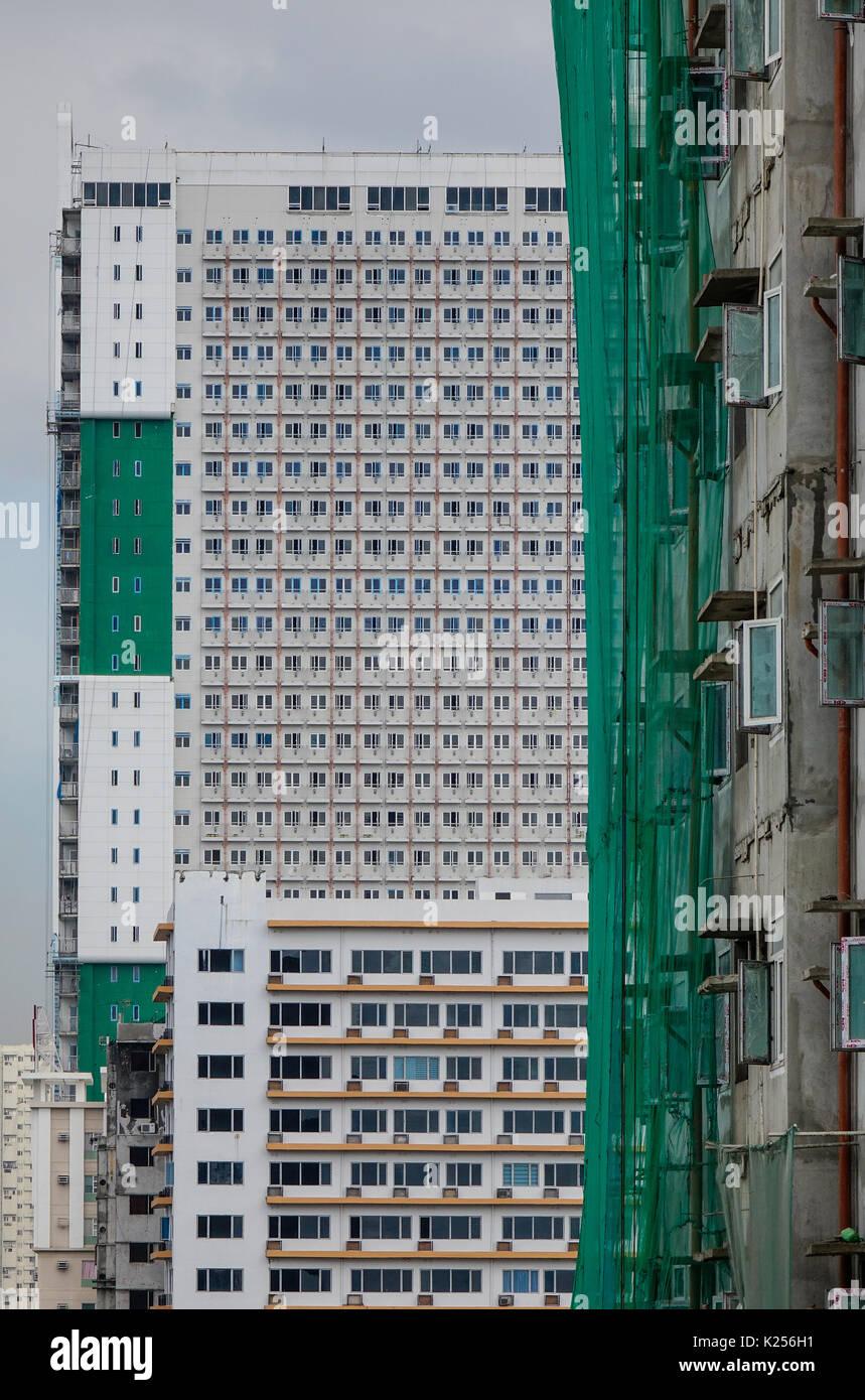 Manila, Philippines - Dec 20, 2015. Modern buildings at downtown in on kuala lumpur, cebu city, davao city, phnom penh, quezon city, metro manila, new delhi, ho chi minh city,