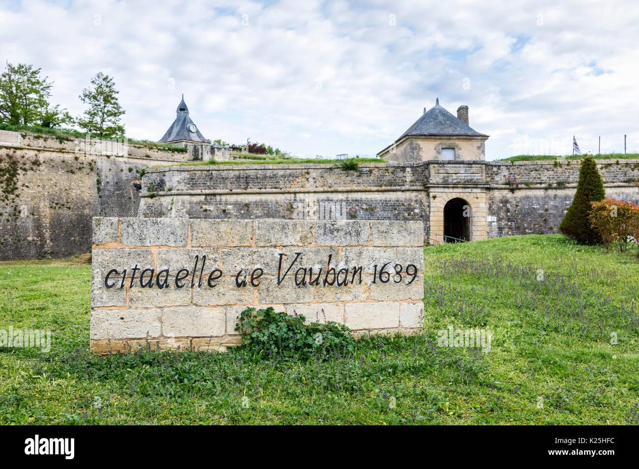 Citadel Of Blaye Citadelle De Vauban In A Commune And Subprefecture The Gironde Department Nouvelle Aquitaine Southwestern France