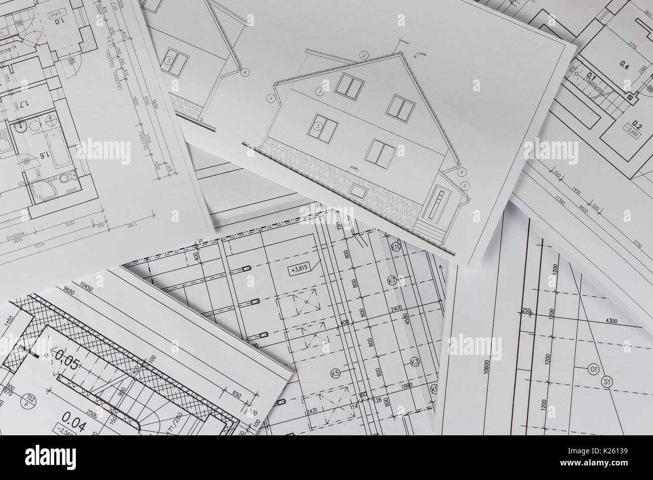 Plans Of Building Architectural Project Floor Plan Designed Building On The Drawing Engineering And Technical Drawing Part Of Architectural Projec Stock Photo Alamy