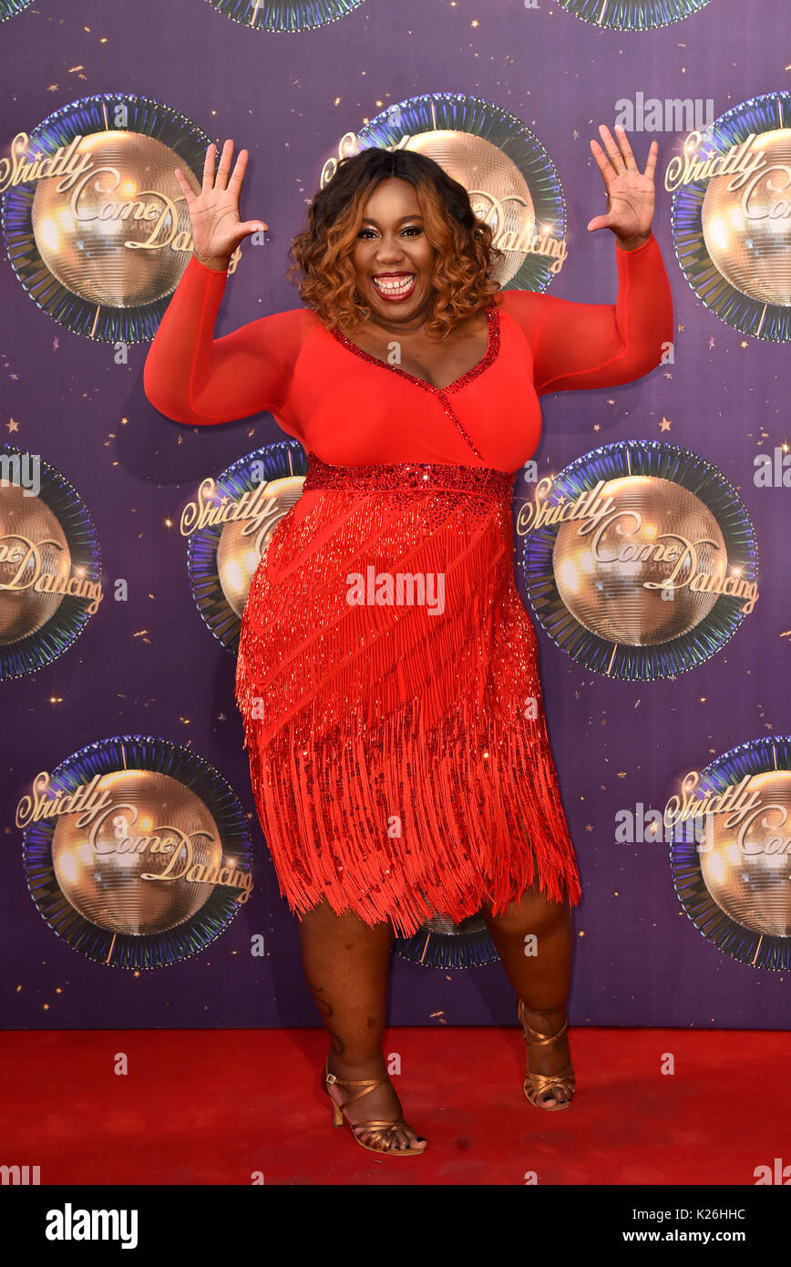 Chizzy Akudolu at the launch of Strictly Come Dancing 2017 at Broadcasting House in London. Stock Photo