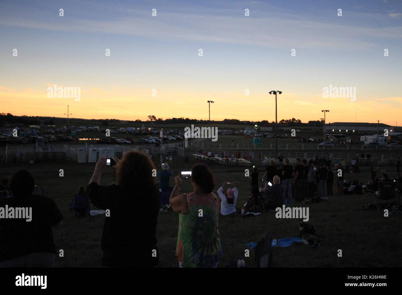 Solar Eclipse at Stapleton, Nebraska Stock Photo