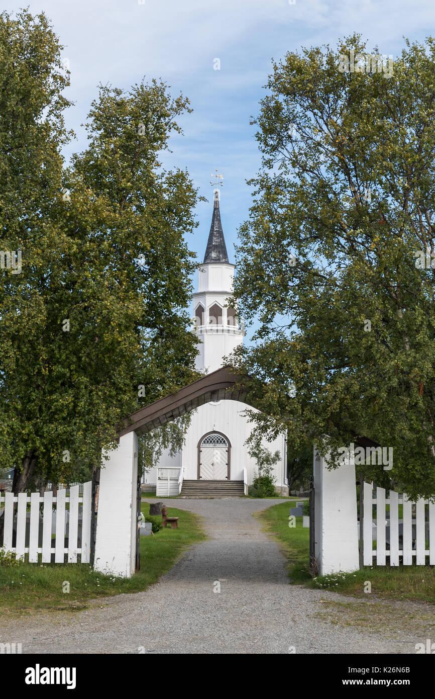 Alta, church, Bossekop, kirke, Finnmark, Norway, Norge - Stock Image
