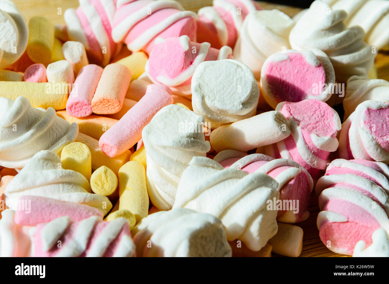 Multicolored Marshmallow Background - Stock Image