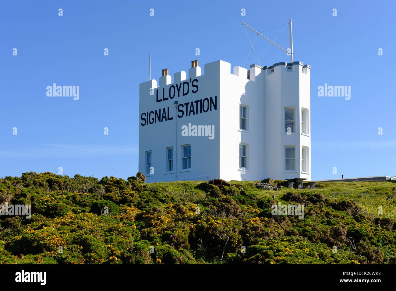 Lloyd's Signal Station, Lizard Peninsula, Cornwall, England, United Kingdom - Stock Image