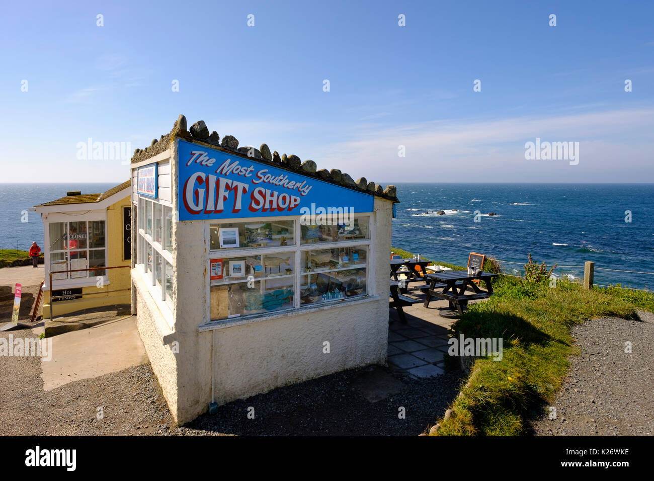 The Most Southerly Gift Shop, Lizard Point, Lizard Peninsula, Cornwall, England, United Kingdom - Stock Image