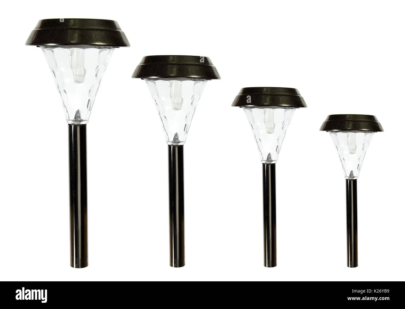 Garden Lamps on White Background - Stock Image