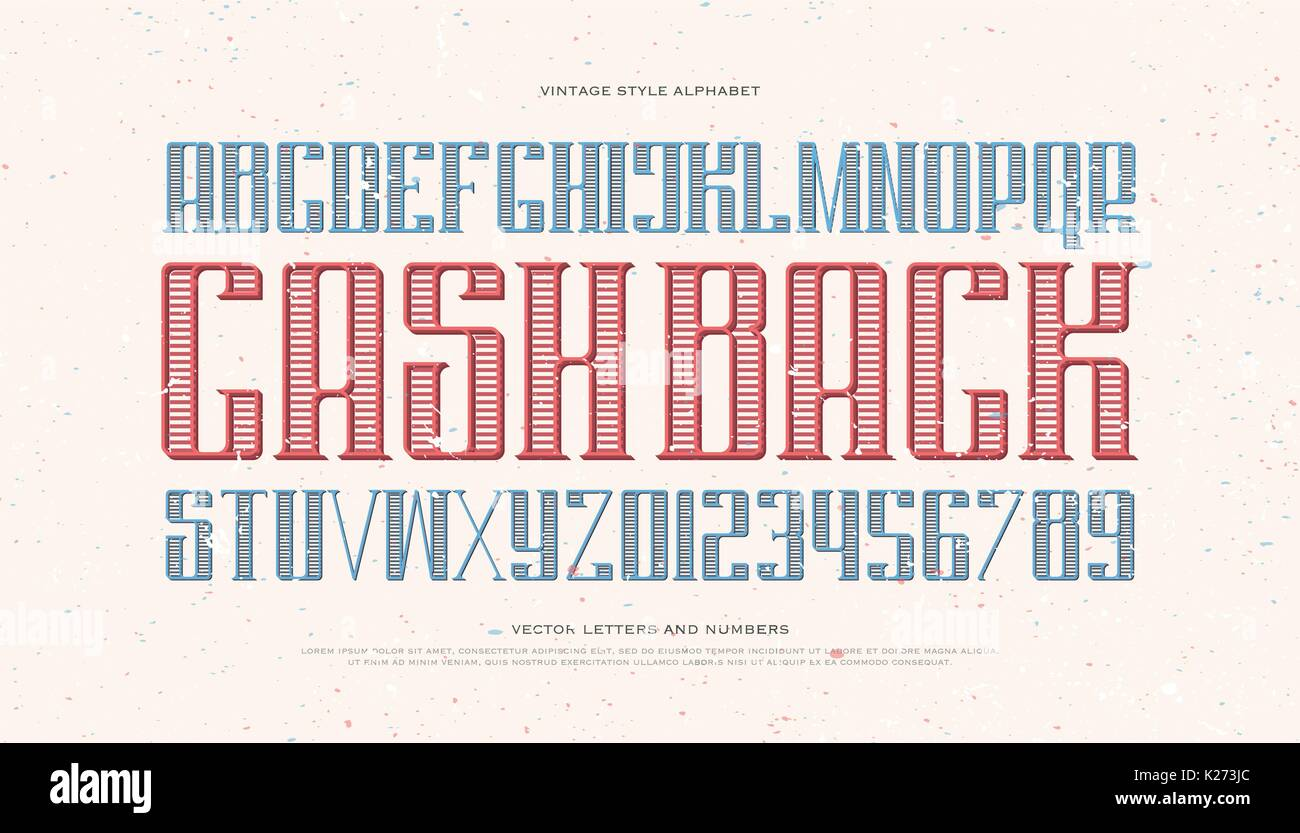 Vintage Money Alphabet Letters And Numbers Vector Font Type Design Old Poster Lettering Symbols Stylized Business Typesetting Currency Classic Ty