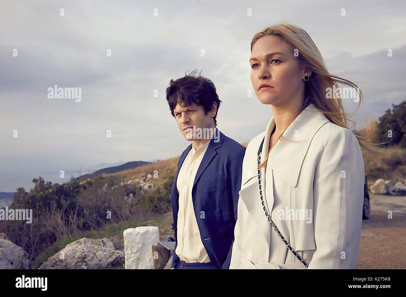 RIVIERA Sky Atlantic TV series with Julia Stiles and Iwan Rheon - Stock Image