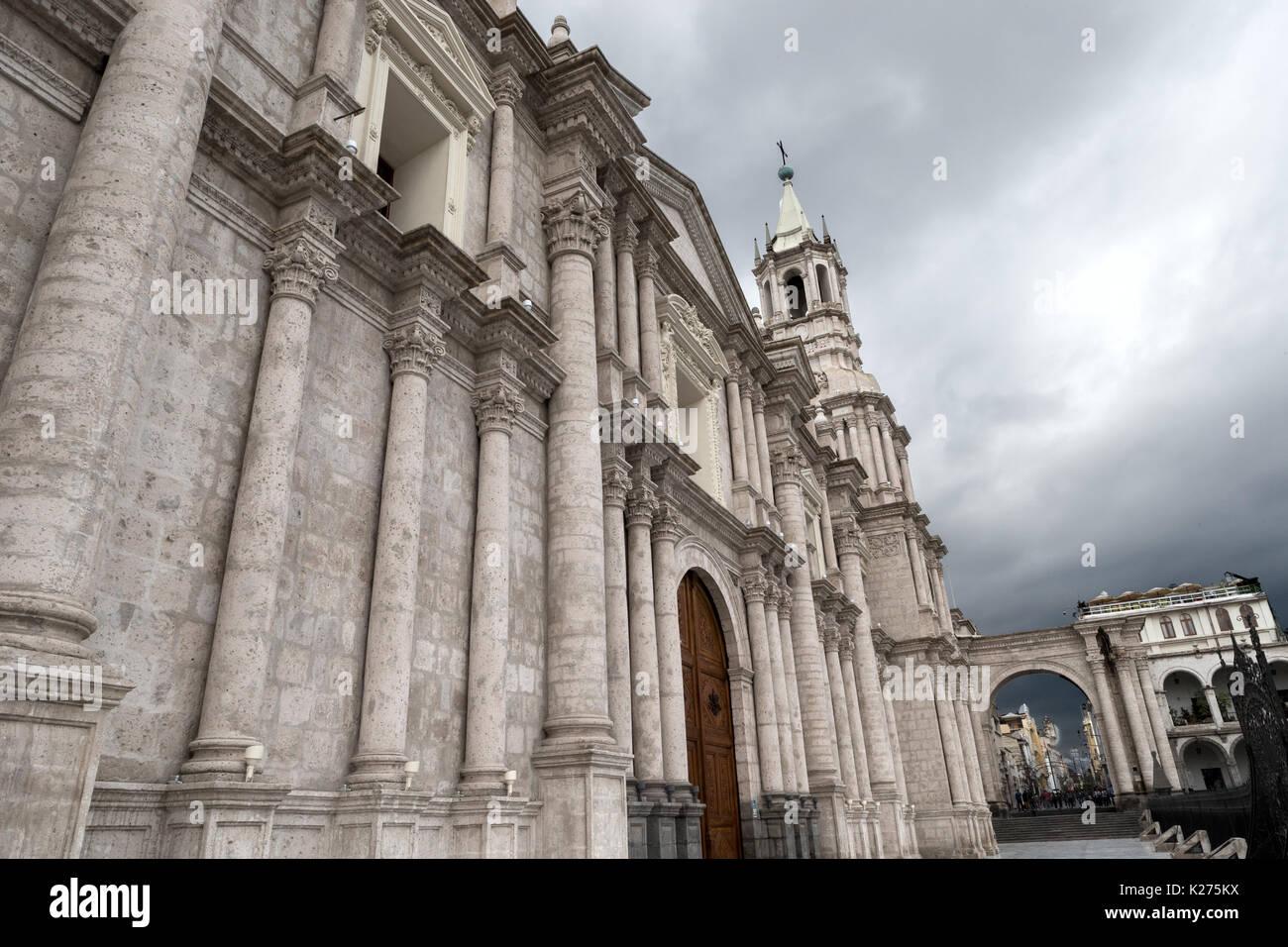 Basilica Catedral Arequipa Peru - Stock Image