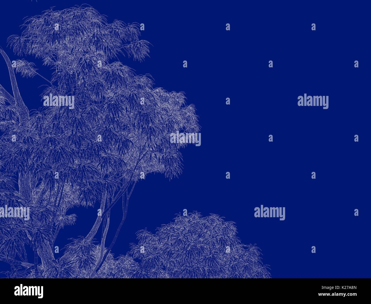3d rendering of an outlined tree blueprint isolated on blue stock 3d rendering of an outlined tree blueprint isolated on blue background malvernweather Choice Image
